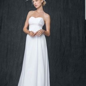 Sweetheart Chiffon Wedding Dress with Side Drape